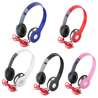Over-Ear Teens Kids Childs Foldable DJ Headphones 3.5mm Wired Game Earphones UK