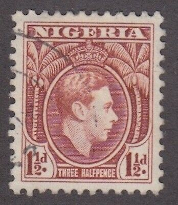 Nigeria,1950, 1.5d brown, SG51a, Sc 55a, perf 11.5, used.