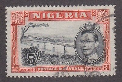 Nigeria,1948, 5/- black and orange, SG59b, Sc 64b, perf 14, used.