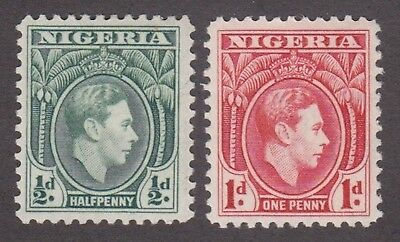 Nigeria,1938, 1/2 penny green, 1d red, SG49-50, Sc 53-54, mint never hinged, MNH