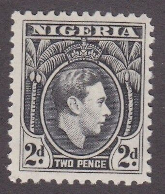 Nigeria,1938, 2d black, SG52, Sc 56, mint never hinged, MNH.