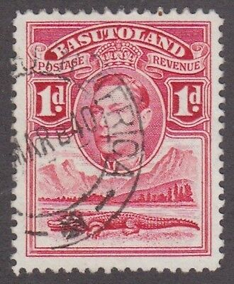 Basutoland,1938, 1d red, SG19, Sc 19, used.