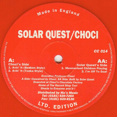 "Solar Quest / Choci ""Mesmerised"" Choci's Chewns - Limited Edition / Acid, Trance"