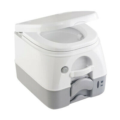 Dometic SeaLand 974MSD Portable Toilet 2.6 Gallon Grey w/Brackets 301197406