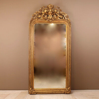 Large Victorian Giltwood and Gesso Mirror, circa 1870