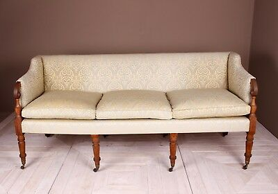 George III Mahogany Framed Upholstered Sofa