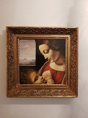 Beautiful Oil Painting With Gold Frame. Superb!