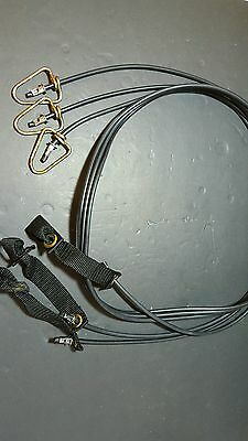 Tie Out Cords, High Quality Rubber Cords, 6FT, Lot of 3