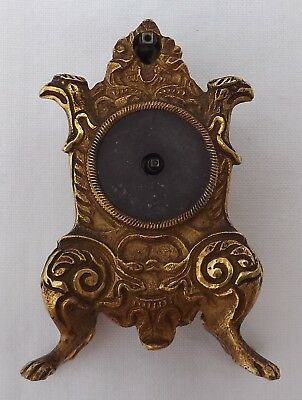 Antique Georgian Gilt Brass Miniature Tic Tac Tic - Tac Clock Restoration Repair