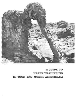 Airstream 1966 Travel Trailer Overlander Double Owners Manual User Guide Copy