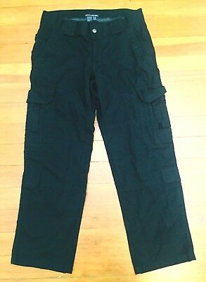 5.11 511 TACTICAL SERIES Womens Size 12 Black Cargo Stryke 12 Pocket Pant