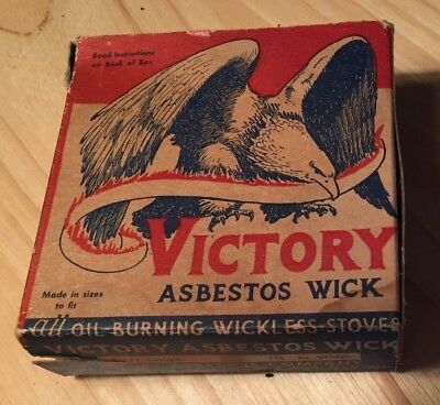 VICTORY Atlas ASBESTOS Oil STOVE WICK Full BOX EAGLE North Wales,PA
