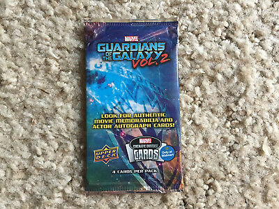 Guardians Of The Galaxy Vol. 2 Upper Deck Wal-Mart Exclusive 4 card pack