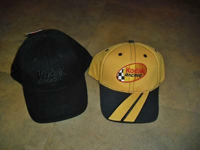 ffb6a603 Kodak Racing hat Lot of 2 hats New MINT caps nwt Travis Kvapel #77 1