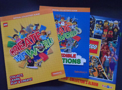 SAINSBURYS LEGO CREATE THE WORLD CARD SETS & Toys r us FULL SETS