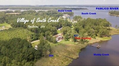 Waterfront House.89 Ac. ICW NEARBY Elev. House & Shed  Eastern North Carolina NC