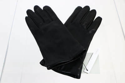Nordstrom Rack Black Goat Leather Gloves M