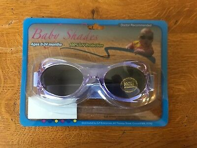 Baby Shades Sunglasses 0-24 Months With Strap Purple 100% UVA/UVB Protection