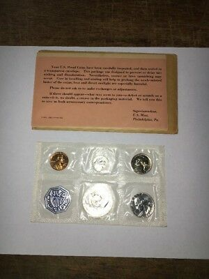 1960 Small Date US Mint Issued Silver Proof Set w/ Envelope & Paperwork