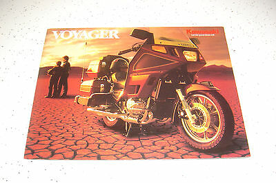 1986 Kawasaki Voyager ZN1300 - A4, NOS Sales Brochure 4 Pages.with inside Poster