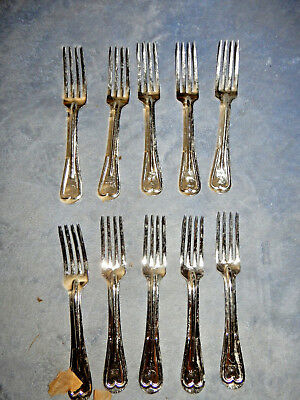 Original Wwi Lot Of 10 Us Army Mess Kit Forks New Old Stock 1918 Dated