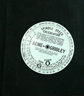 Vintage 1931 Acme-Gridley Production Estimator And Spindle Speed Calculator