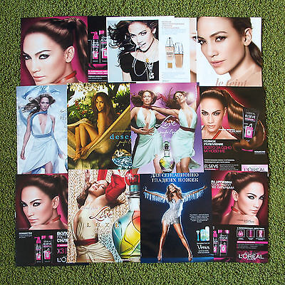 Jennifer Lopez - russian perfume ads clippings lot fashion L'Oreal Cosmopolitan