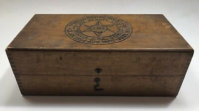 Antique Medical Box Finger Jointed 1890s Label Intact