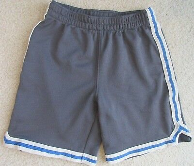 baby GAP Size 4T 4 Toddler Gray w/ Blue & White Trim Athletic Shorts