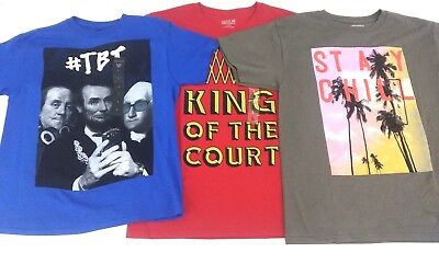 Boys Tshirts  Clothing 3 Piece Lot Route 66  Cotton Size Large 10-12 New