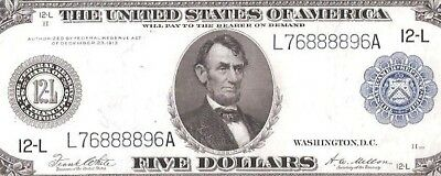 Rare San Francisco Type-A 1914 $5 Crazy 8's Serial Number