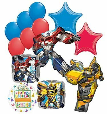 Transformers Birthday Party Supplies 13pc Optimus Prime and Bumble Bee Balloon