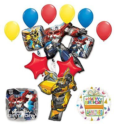 Transformers Birthday Party Supplies Optimus Prime and Bumble Bee Balloon