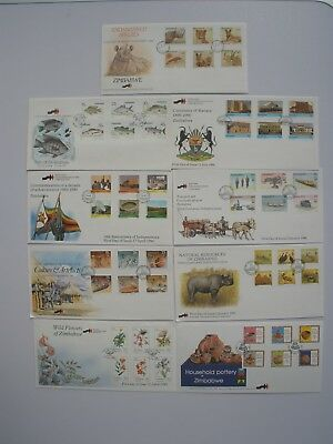 Zimbabwe First Day Covers assorted good condition, veracity confirmed x 9