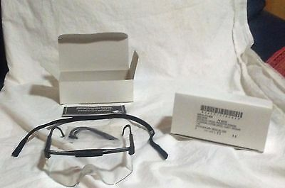 Lot Of 2 New Military Clear Ballistic Specs Safety Shooting Glasses  Ansi Z87