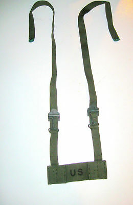 Nos Us Army Military Surplus Vietnam Era M1956 Od Field Butt Pack Adapter Strap