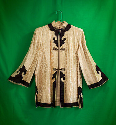Vintage Dynasty Trade Mark (Made In Hong Kong) womens jacket - size M in Gold
