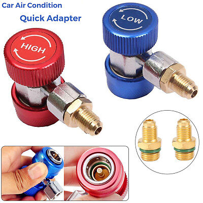 Car A/C Air Condition Quick Coupler Adapter H/L Manifold Connector R134A Metal