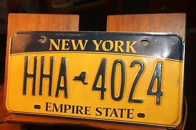 2010 New York Empire State License Plate HHA 4024 (A)
