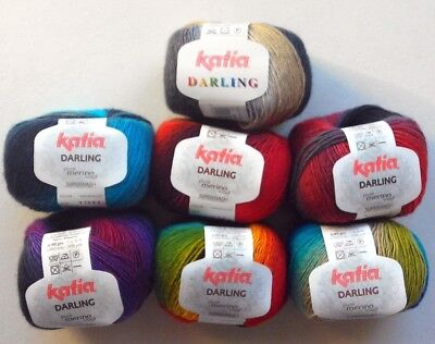 Sock wool- Katia Darling 4 ply sock yarn -  machine washable many colours