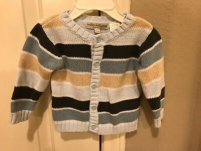 Wendy Bellissimo Baby Boy Button Cardigan Sweater Size 3-6 Months