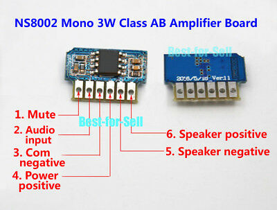 DC 3V-5V 8002 3W  Mono Micro Audio Power Amplifier Board Mini Sound Amp Module