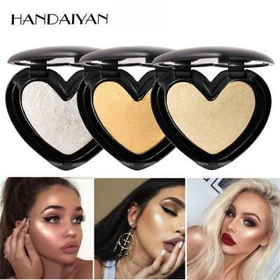 Shimmer Highlighter Powder Baked Eye Shadow Blush Bronzer Blusher Heart Shape