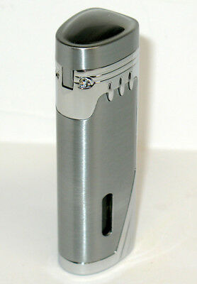 Eternity E2 Silver Triple Jet Torch Cigar Lighter W Punch Cutter NEW & TESTED!