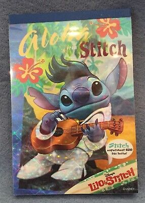 "Japan Disney Exclusive ""ALOHA From STITCH"" PAPER TABLET Lilo 24 Designs!! Mint!"