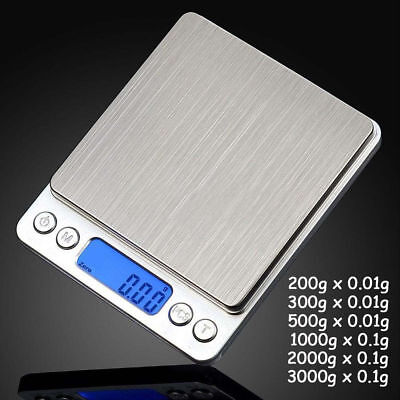 200g/500g/3000g 0.01g 0.1g LCD Digital Pocket Scale Jewelry Gold Gram