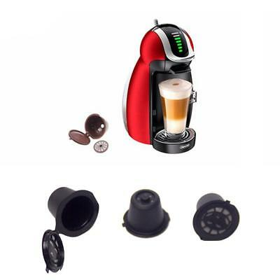 4Pcs Reusable Coffee Capsules Pod Cup Filter For Nespresso+ Spoon&Brush