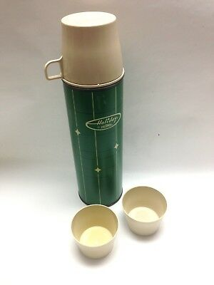 Vintage Holiday by Thermos King-Seeley Quart Size Green 1966