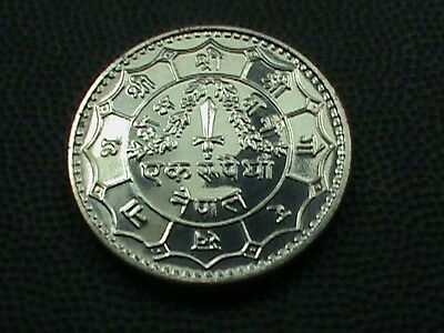 NEPAL    1 Rupee    1974    PROOF  ,    $ 2.99  maximum  shipping  in  USA