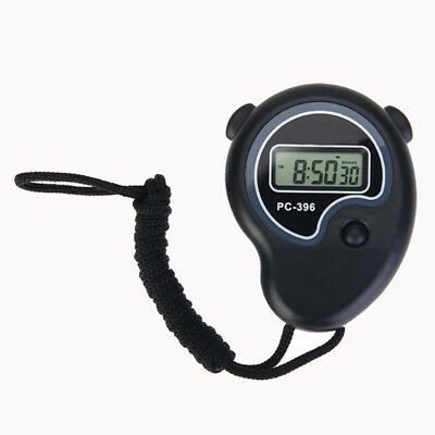 Digital Handheld Sports Stopwatch Stop Watch Time Clock Alarm Counter Timer H5V8